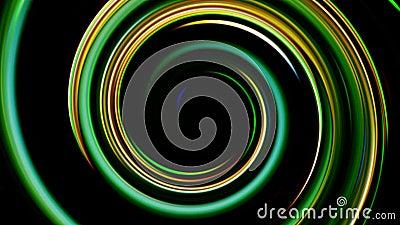 Movimento rolo de feixes fluxo multicolorido brilhando video estoque