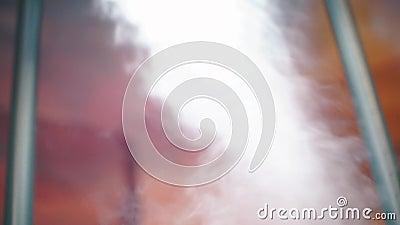Movimiento circular de vapor a la luz almacen de metraje de vídeo