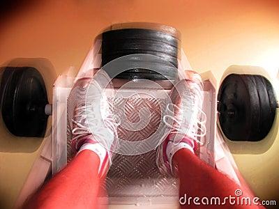 Movimiento de la prensa de la pierna