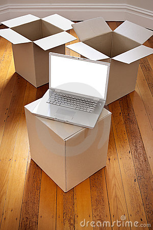 Moving Boxes Computer Removal Royalty Free Stock Photos - Image: 22851878