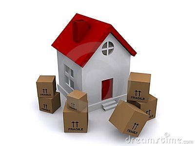Moving boxes in front of house royalty free stock image When is the best time to move house