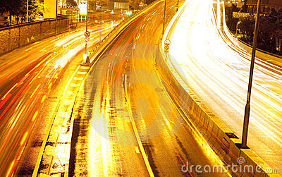 Moving car with blur light