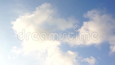 Moving clouds and blue sky time lapse stock video footage