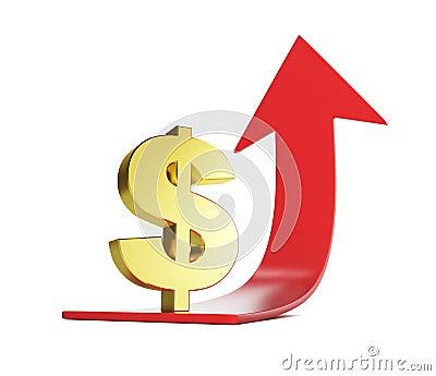 Moving dollar arrow