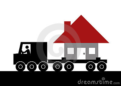 Moving house graphic
