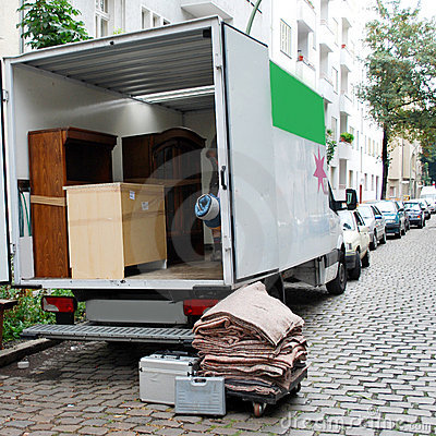 Moving house van
