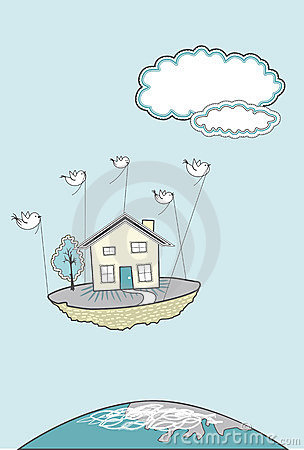 Free Moving House With Birds Stock Photo - 23150950
