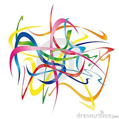 Moving ribbons (vector)
