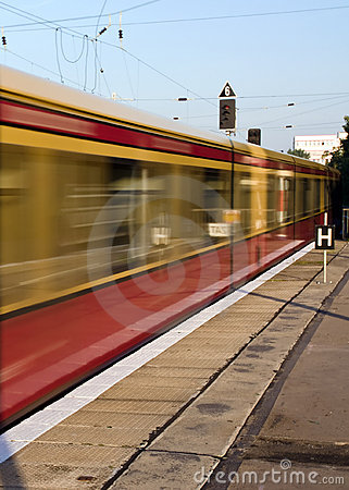 Moving S-Bahn in Berlin