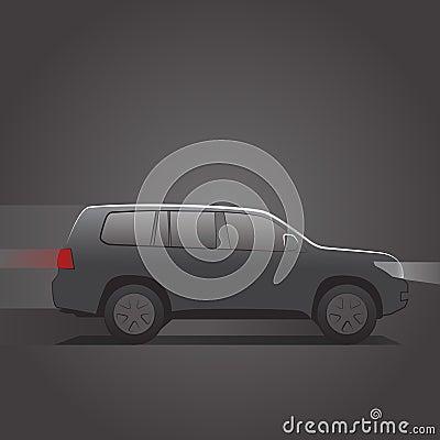 Moving SUV