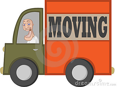 Moving Truck with Cartoon Driver