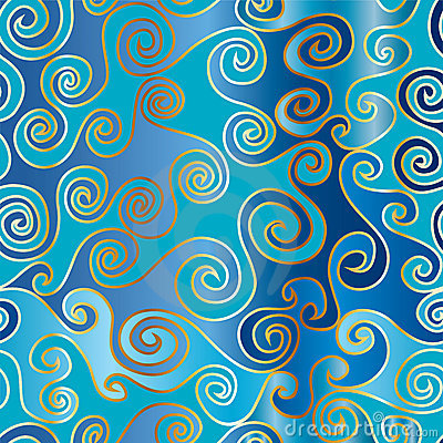 Moving waves seamless pattern