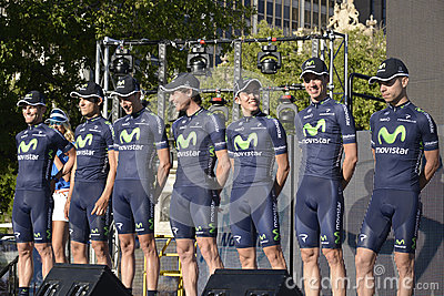 Movistar Professional Cycling Team Editorial Stock Image