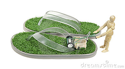Mowing Grass Sandals