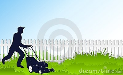 Mowing The Tall Green Grass