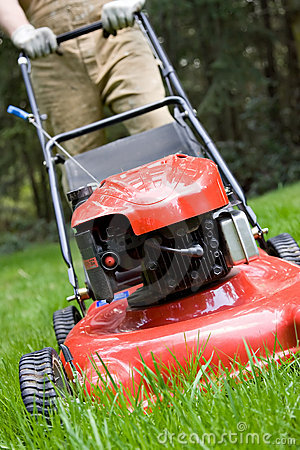 Free Mowing The Lawn Royalty Free Stock Photography - 9173907