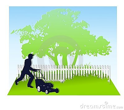 Free Mowing The Lawn In Spring Royalty Free Stock Images - 4450679