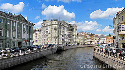 Moyka river in Saint Petersburg, Russia Editorial Stock Photo