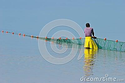 рыболов mozambican Мозамбик Африки южный