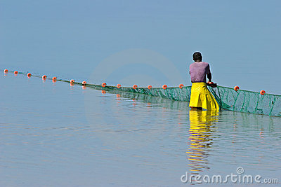 Mozambican fisherman, Mozambique, southern Africa
