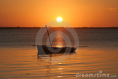 Mozambique solnedgång