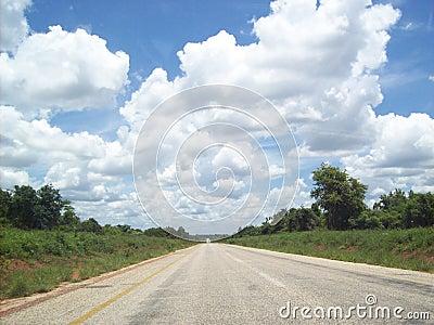 Mozambique vlak na Zuidafrikaanse grens