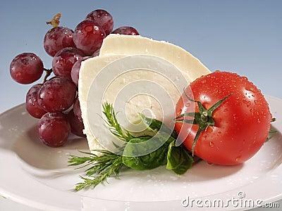 Mozarella du plat blanc