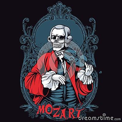 Free Mozart Skeleton Shirt Design Stock Photos - 35443413