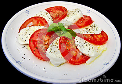 Mozzarella di bufala and tomato salad