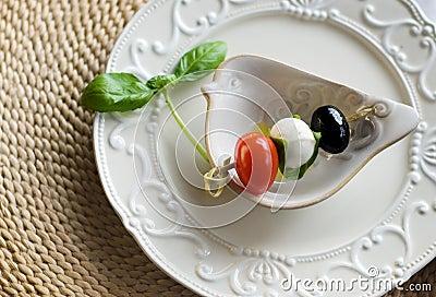 Mozzarella and tomato