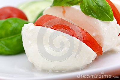 Mozzarella - Tomato Salad,with cucumber