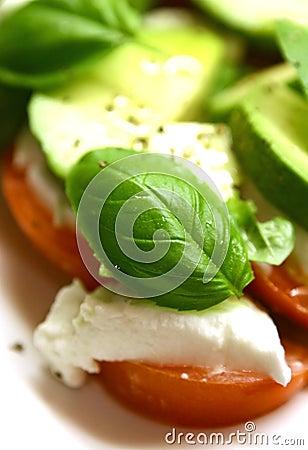 Free Mozzarella Tricolore Salad Stock Photo - 1527380