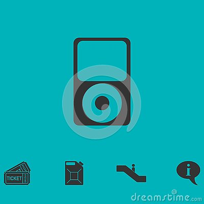 MP3 Player icon flat Vector Illustration