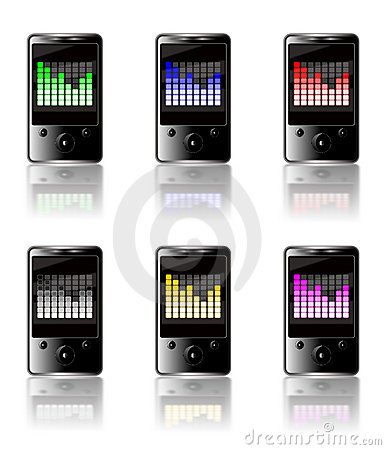 MP3 graphic equalizer colored set