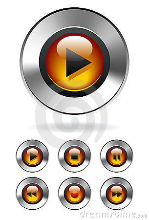 MP3 Media Player Buttons
