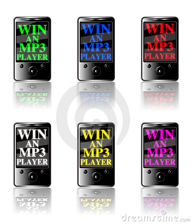 MP3 Player Competition icon set