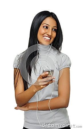 MP3 player girl