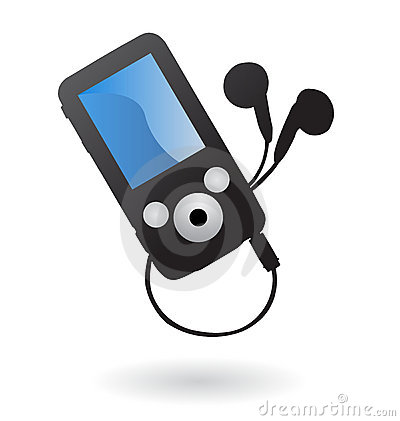 Mp3 player isolated