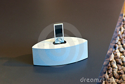 Mp3 player on stand