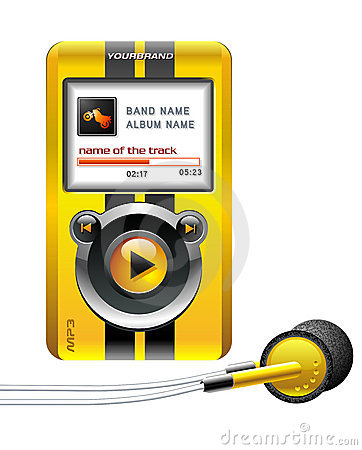 Mp3 player yellow