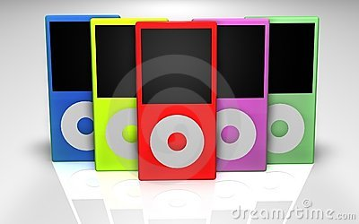 Mp3 players multicolored