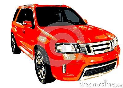 MPV Multi Purpose Vehicle Illustration