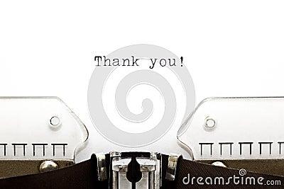 A máquina de escrever agradece-lhe