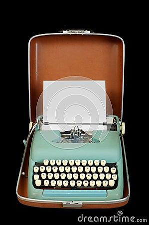 Máquina de escribir del portable de la vendimia