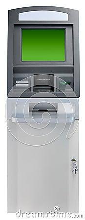 Máquina do ATM isolada