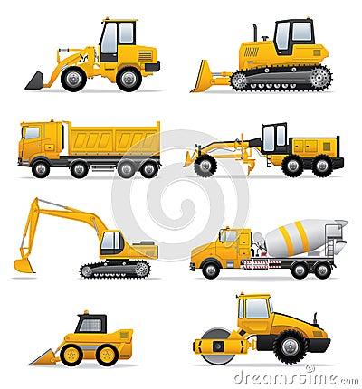 Máquinas da construção ajustadas