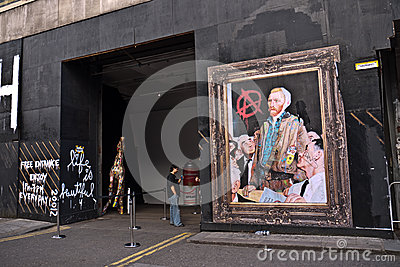 Mr Brainwash s Street Art exhibition Editorial Stock Image