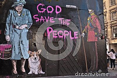 Mr Brainwash s Street Art exhibition Editorial Photography