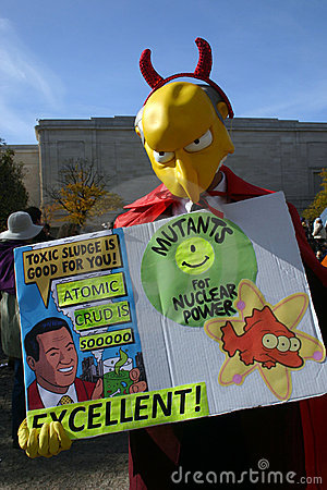 Mr. Burns at the Rally to Restore Sanity Editorial Photography