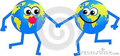 Mr and mrs globe